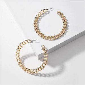 3/$20 New Gold Large Chain Link Hoops